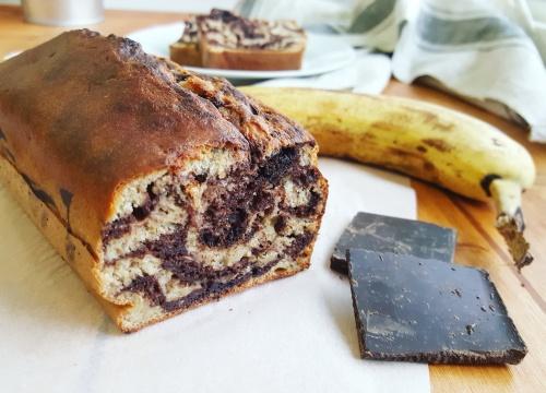 Banana bread cake la banane marbr cuisine ta ligne for Cuisine ta ligne