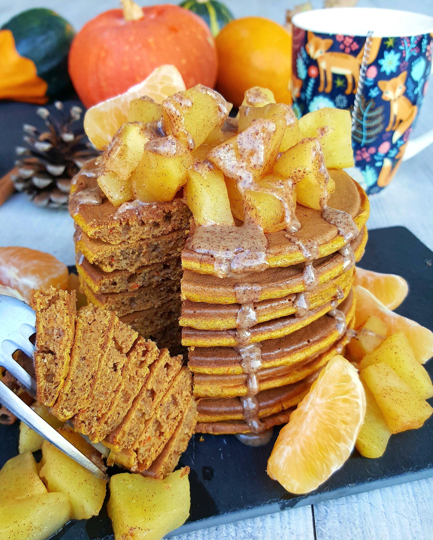 Pancakes au potimarron et à la cannelle par Julie cuisine ta ligne